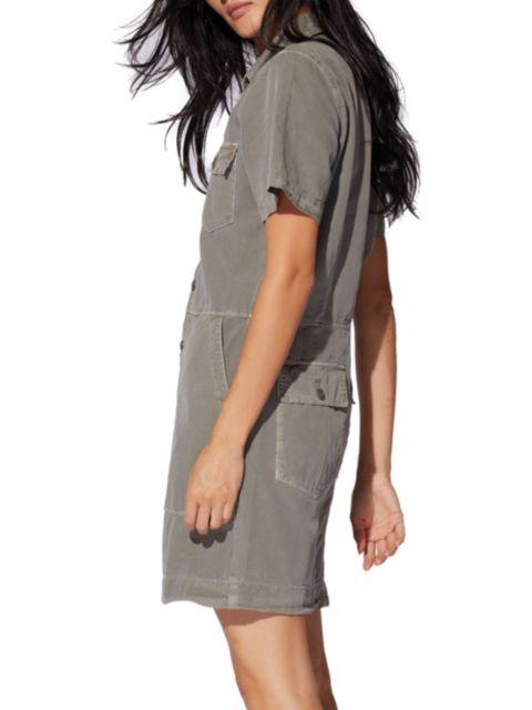 NSF Brynn Patch Pocket Short-Sleeve Dress | SaksFifthAvenue