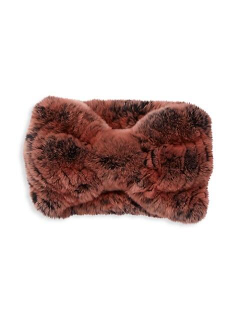 Rex Rabbit Fur Knotted Headband
