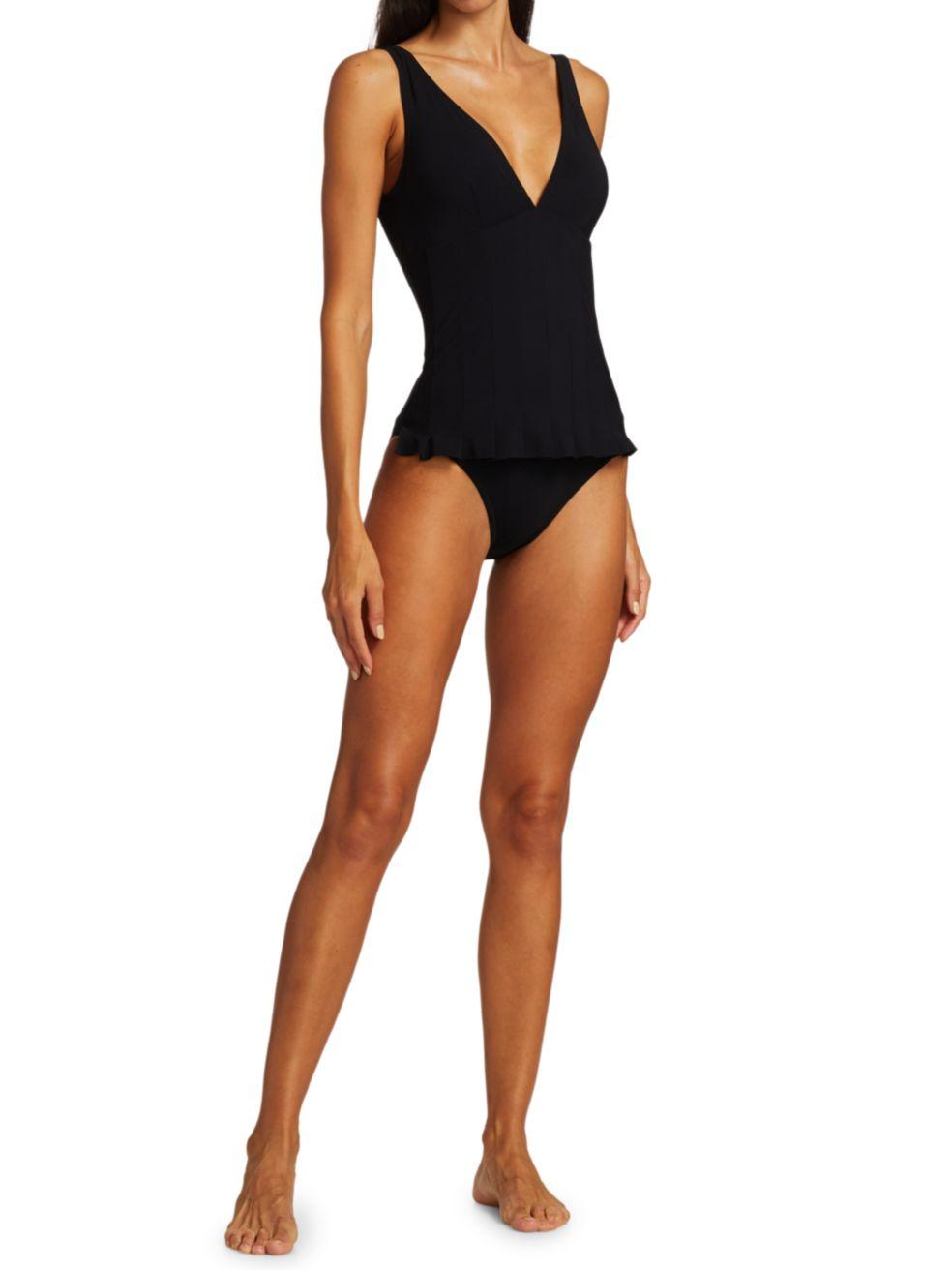 Karla Colletto Swim Lana V-Neck One-Piece Swimdress | SaksFifthAvenue