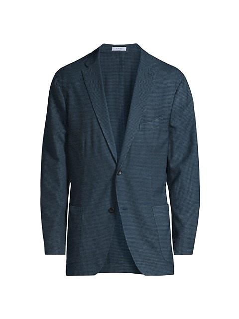 Gingham Virgin Wool Sportcoat