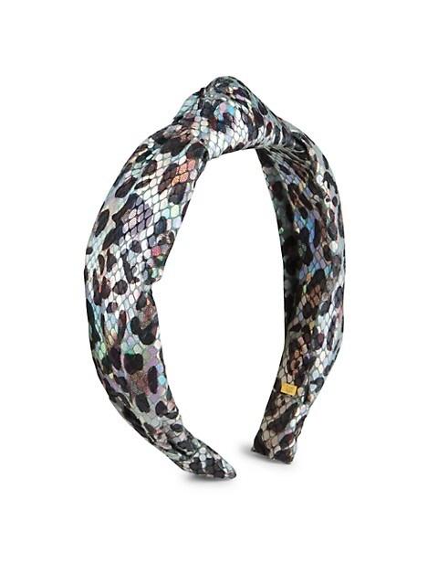 Girl's Leopard Shimmer Knot Headband