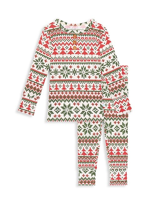 Baby's, Little Kid's & Kid's Nicholas 2-Piece Long-Sleeve Henley Pajama Set