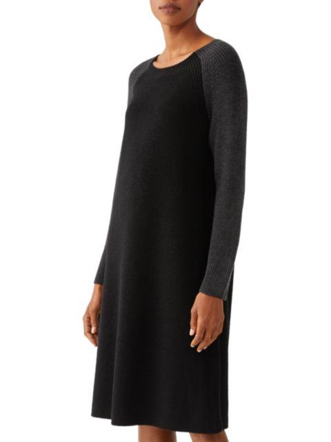 Eileen Fisher Jewel-Neck Raglan Dress | SaksFifthAvenue