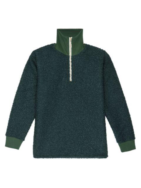 Donni Curly Half-Zip Pullover   SaksFifthAvenue