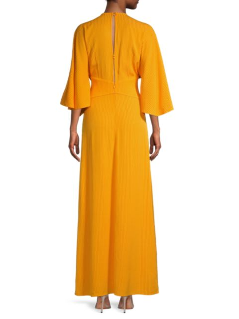 Significant Other Seawall Plunge-Neck Ruffle Dress   SaksFifthAvenue