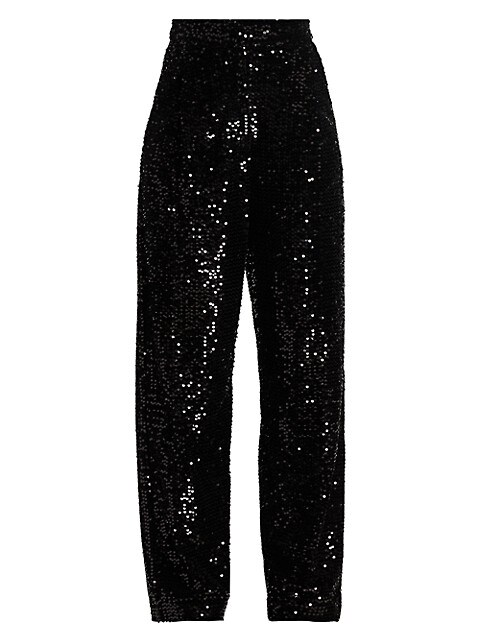 Galen Sequin Wide-Leg Trousers