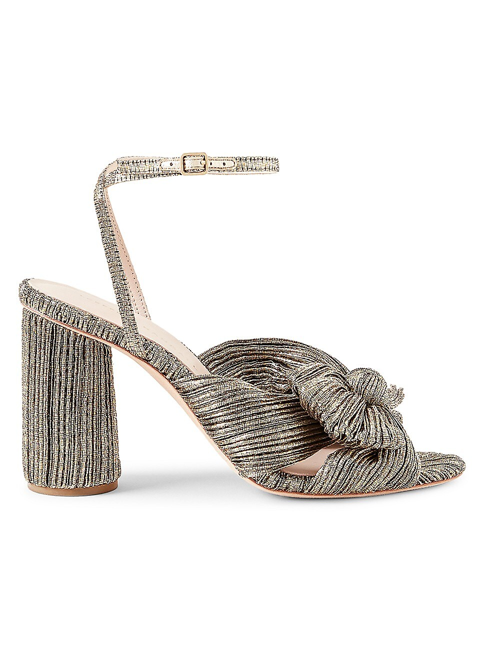 Loeffler Randall WOMEN'S CAMELLIA KNOTTED METALLIC SANDALS