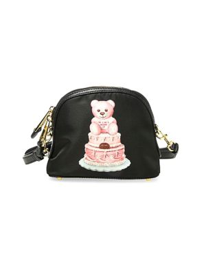 MOSCHINO Printed Teddy Cake Leather Shoulder Bag