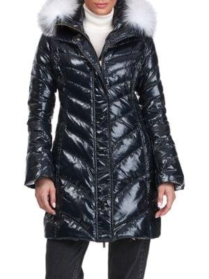 Gorski Women's Apres-ski Detchable Fox Fur Hood Trim Puffer Jacket In Black