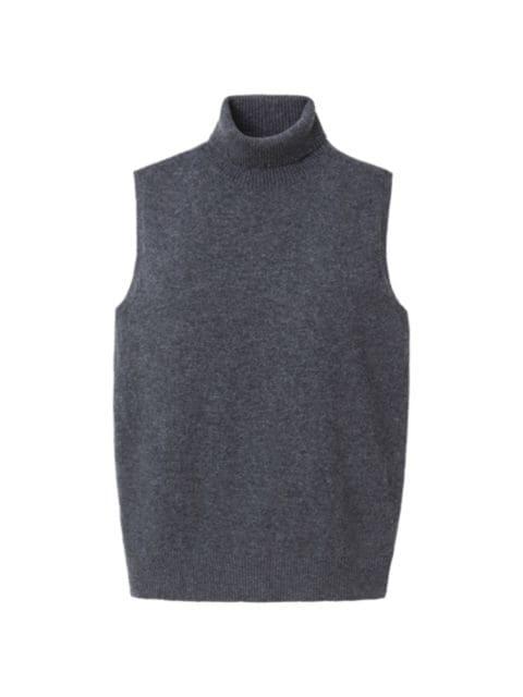 Lafayette 148 New York Turtleneck Sleeveless Cashmere Sweater Vest | SaksFifthAvenue