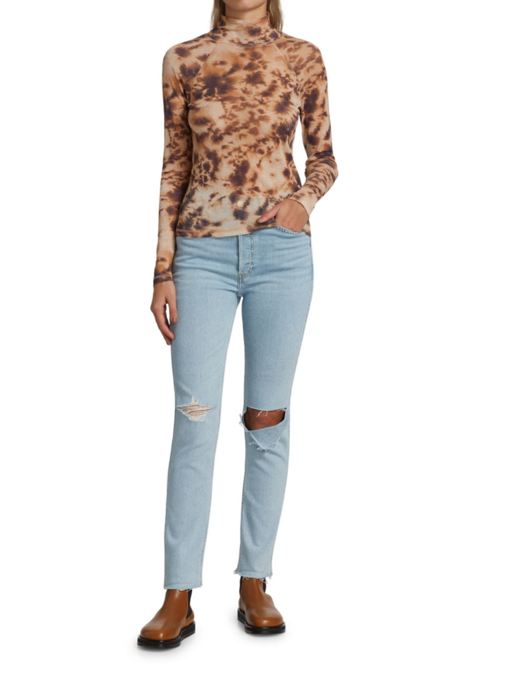 Re/done 80s Slim Straight Ripped Jeans | SaksFifthAvenue