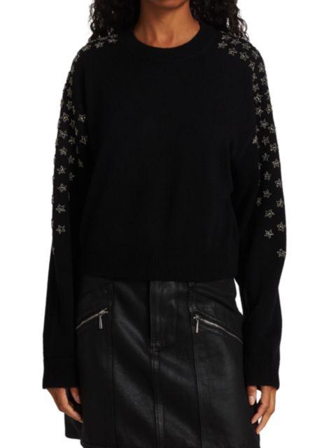 The Kooples Star Print Wool-Cashmere Sweater | SaksFifthAvenue