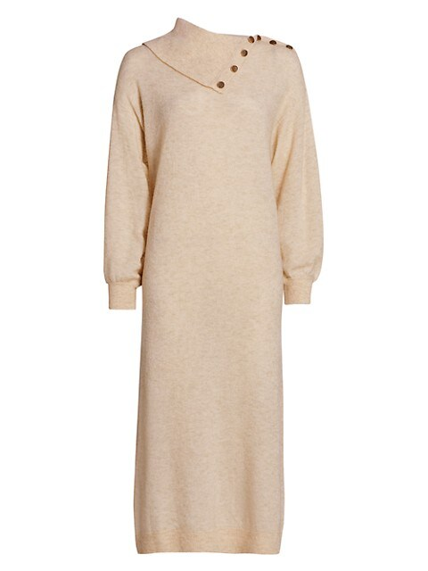 Teddy Knit Merino Wool-Blend Sweater Dress