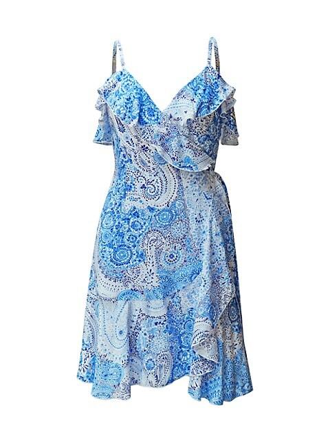 Peacock Paisley Wrap Dress