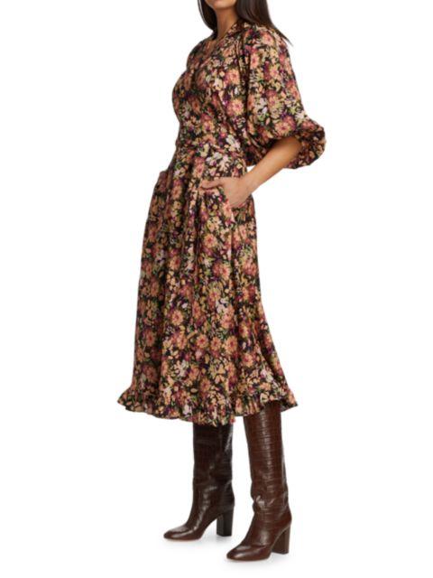 ByTiMo Floral Wrap Midi Dress   SaksFifthAvenue