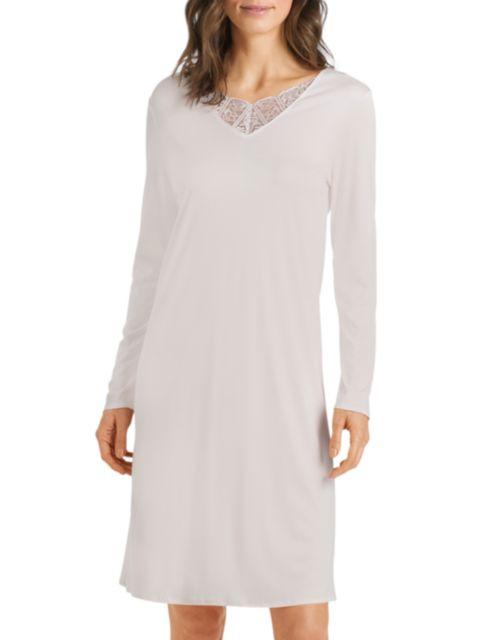 Hanro Wanda Lace-Trim Night Gown | SaksFifthAvenue