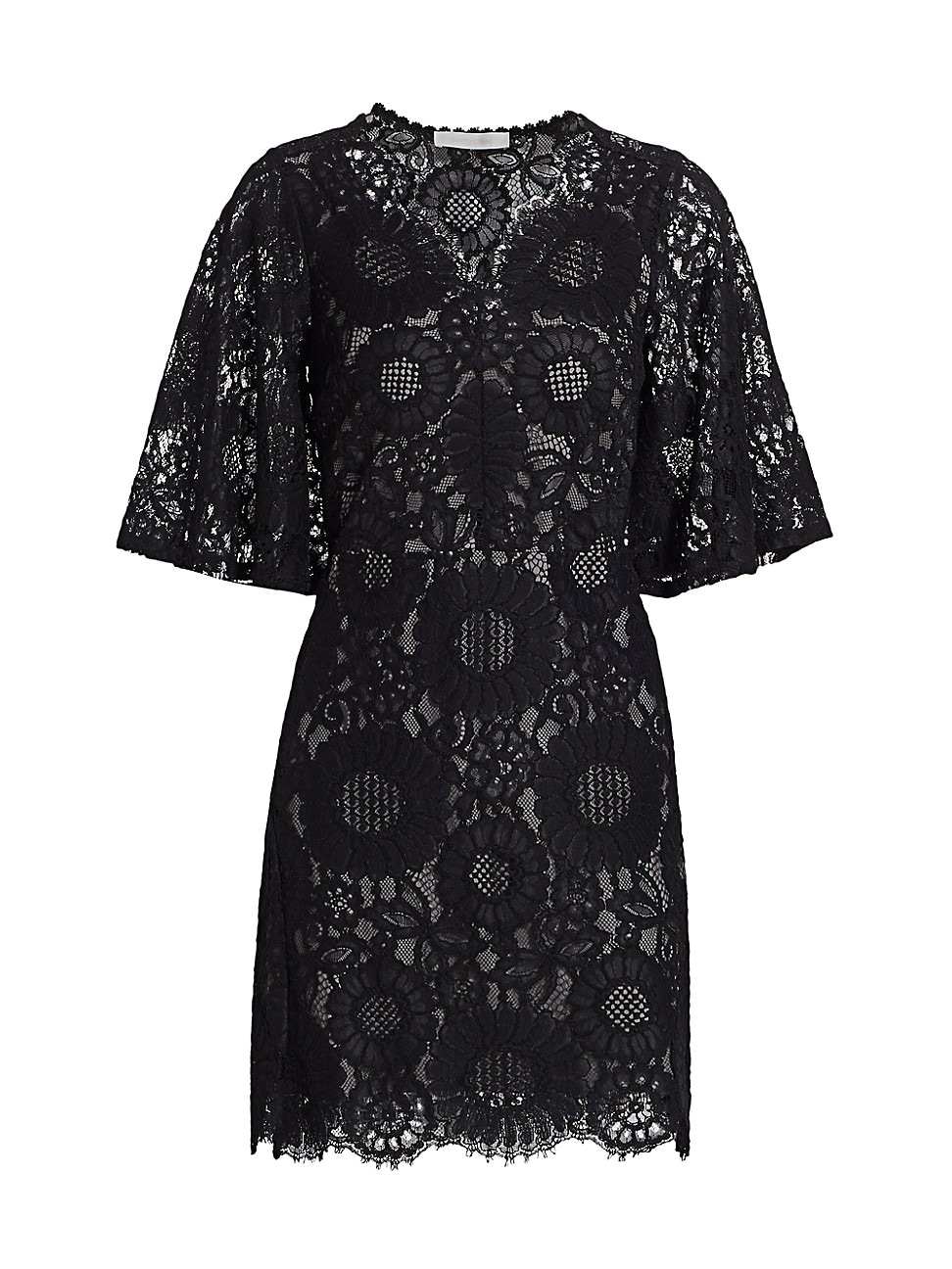 SEE BY CHLOÉ WOMEN'S SHORT-SLEEVE LACE MINI DRESS