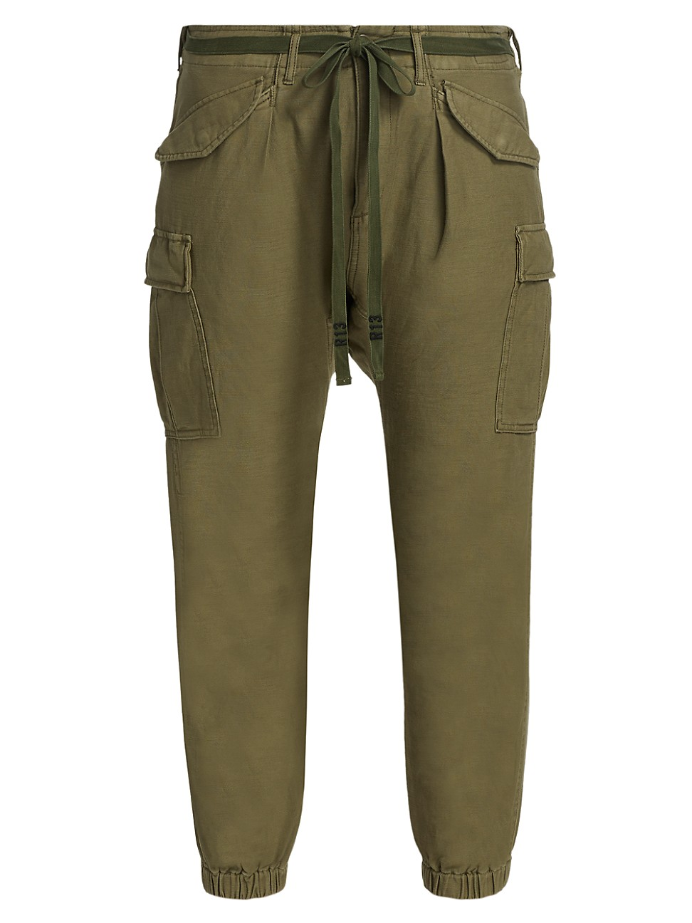 R13 Cottons WOMEN'S DROP CROTCH CARGO PANTS