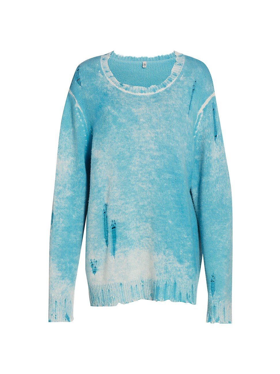 R13 WOMEN'S FADED CASHMERE LONG-SLEEVE SWEATER