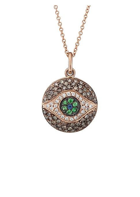 Midnight Rose-Eye Necklace