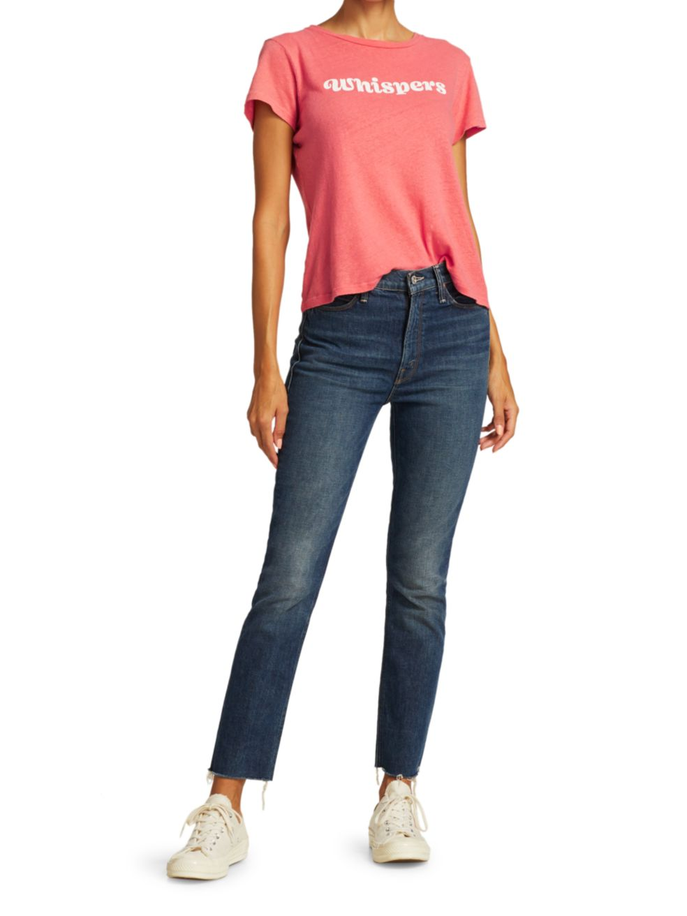 Mother The Dazzler Ankle Frayed Straight Jeans | SaksFifthAvenue