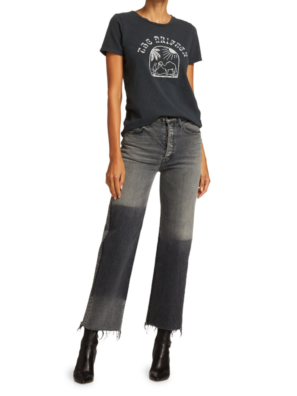 Mother The Rambler High-Rise Ankle Jeans | SaksFifthAvenue