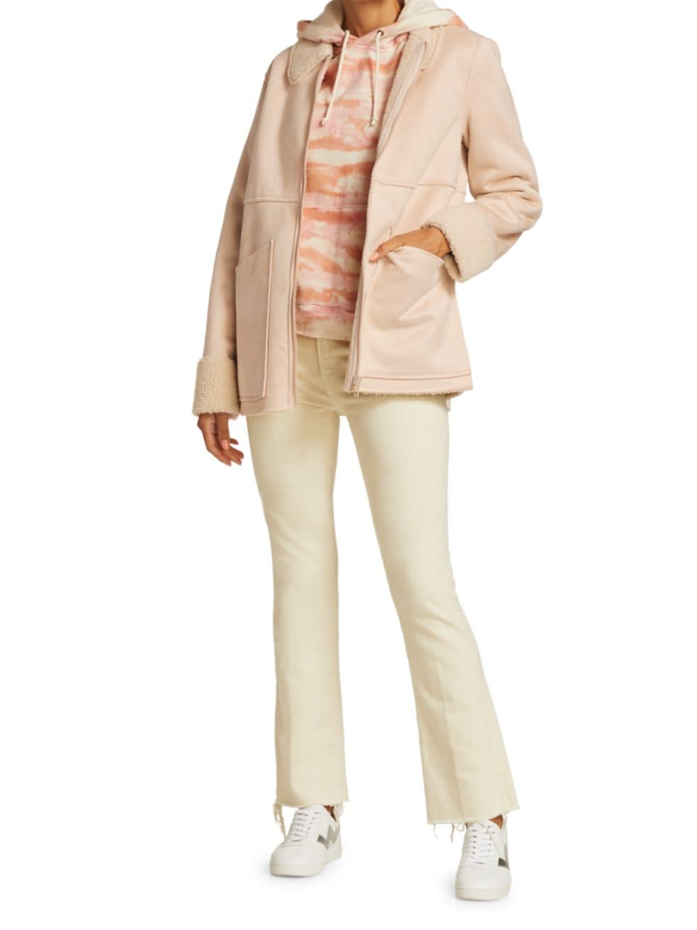 Mother The Timber Faux Fur Jacket   SaksFifthAvenue