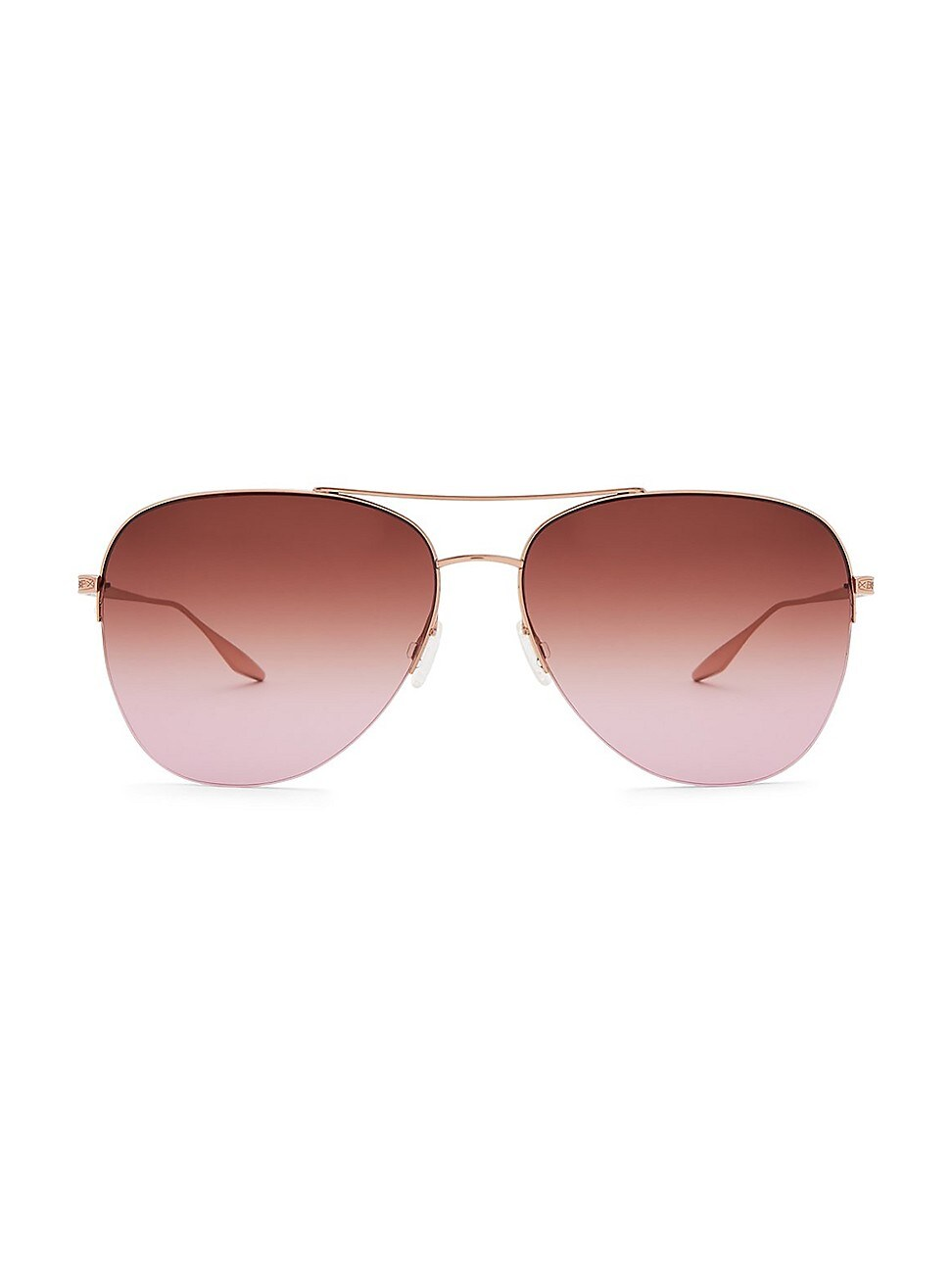 Barton Perreira WOMEN'S CHEVALIER 62MM AVIATOR SUNGLASSES - ROSE GOLD