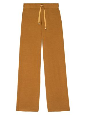 Donni Women's Cropped Flare Sweatpants In Dijon