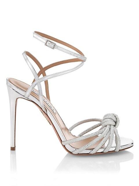Celeste Glitter Leather Sandals