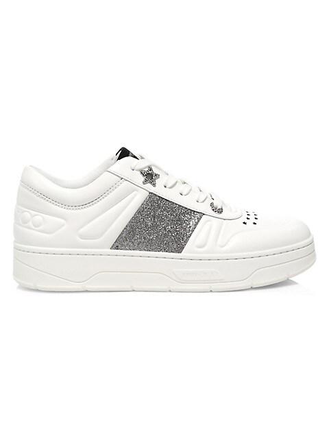 Hawaii Glitter & Leather Sneakers