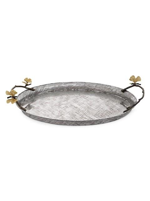 Butterfly Ginkgo Oval Tray