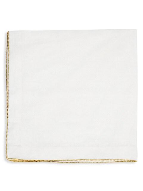 4-Piece Matte Beaded Linen Napkin Set