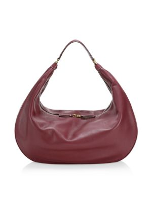 Staud Large Sasha Leather Shoulder Bag