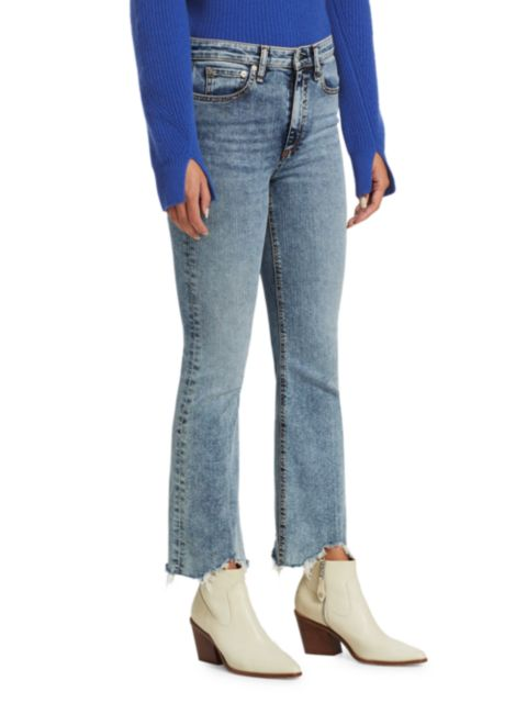 Rag & Bone Nina High-Rise Ankle Flare Jeans   SaksFifthAvenue