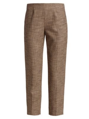 Piazza Sempione Audrey Cropped Houndstooth Pants