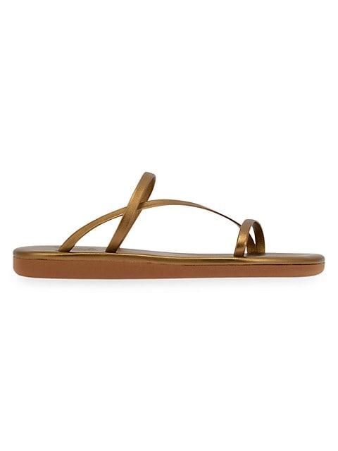 Parthena Metallic Leather Sandals