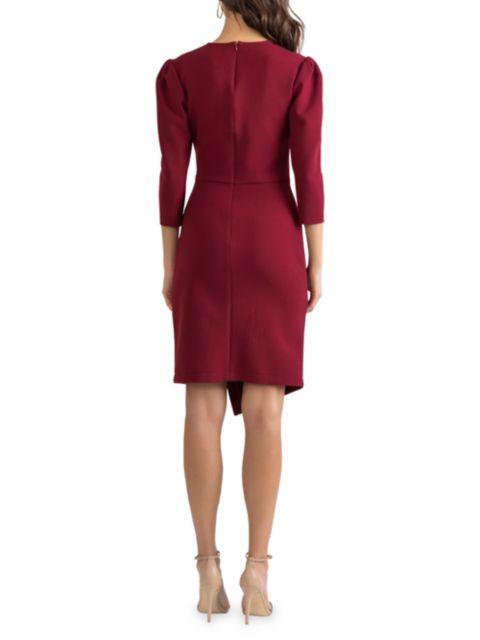 Shoshanna Ralph Puff-Sleeve Ruched Dress   SaksFifthAvenue