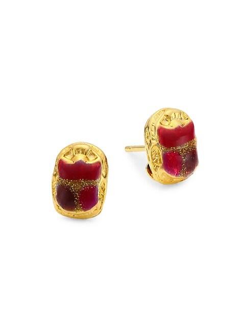 Puce Scaramouche Stud Earrings