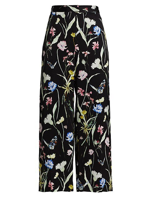 Wide-Leg Floral Pajama Trousers
