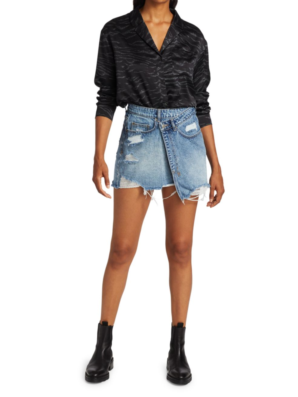 Ksubi Wreck Less Rap Vibez Denim Skirt | SaksFifthAvenue