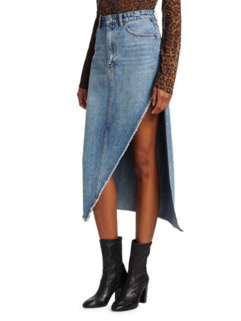 Ksubi Synergy High-Rise Denim Midi Skirt | SaksFifthAvenue