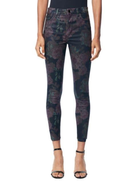 Joe's Jeans Charlie High-Rise Coated Floral Skinny Jeans | SaksFifthAvenue