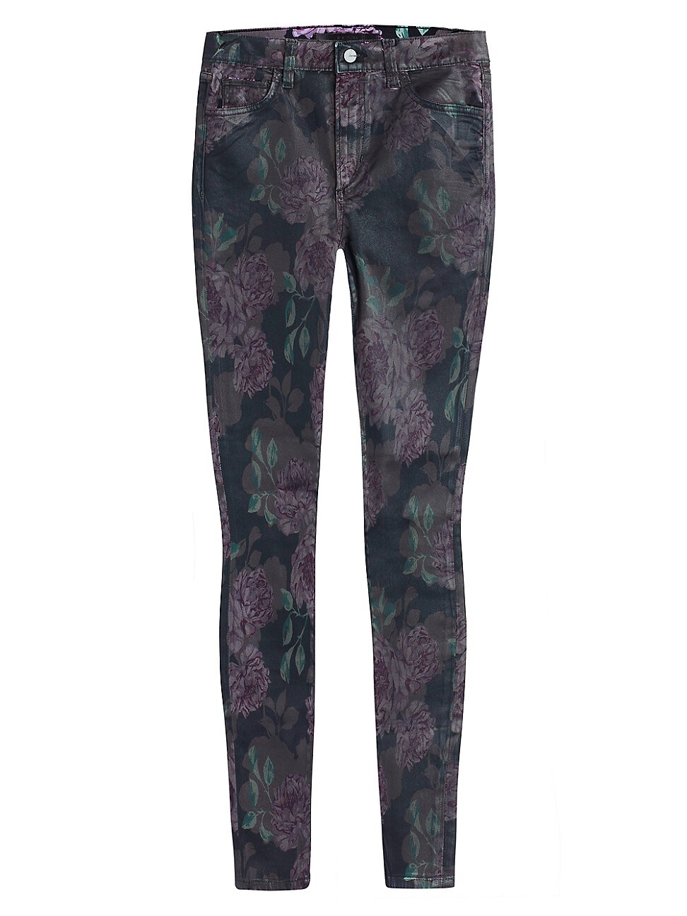 Joe's Jeans WOMEN'S CHARLIE HIGH-RISE COATED FLORAL SKINNY JEANS