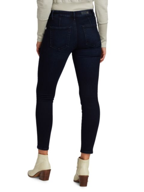AG Jeans Farrah High-Rise Skinny Ankle Raw Hem Jeans   SaksFifthAvenue
