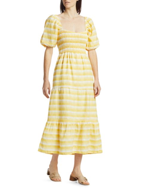 Faithfull the Brand Gianna Midi Dress   SaksFifthAvenue