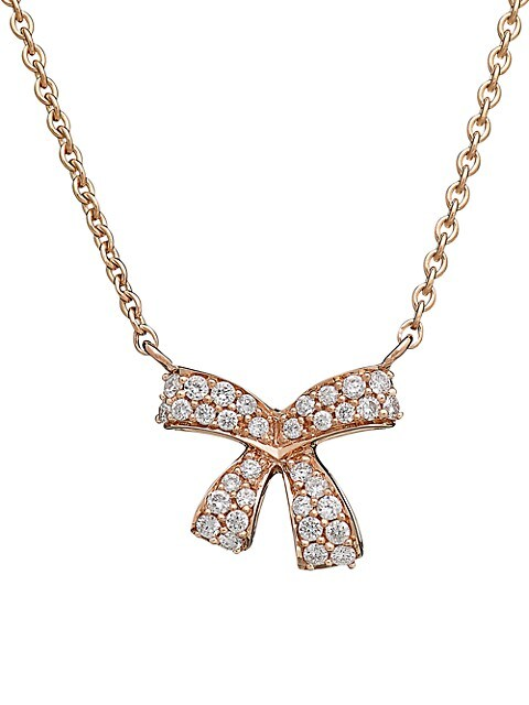 Romance 18K Rose Gold & Diamond Necklace