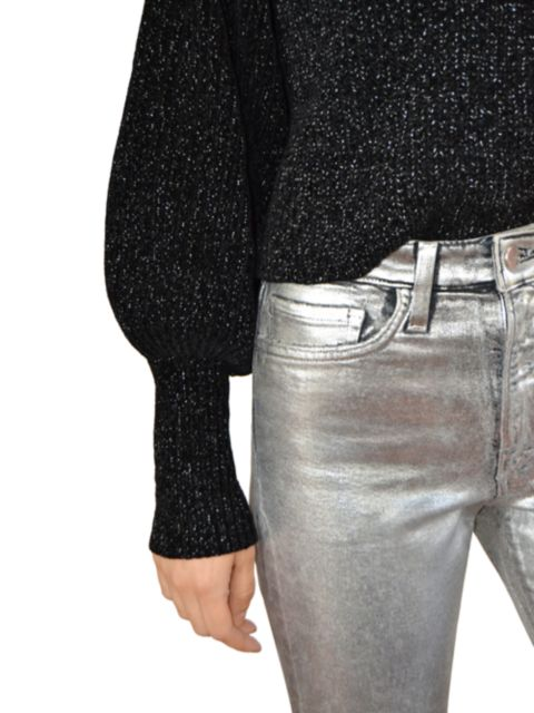 Joe's Jeans Luna High-Rise Slim Straight Ankle Metallic Jeans   SaksFifthAvenue