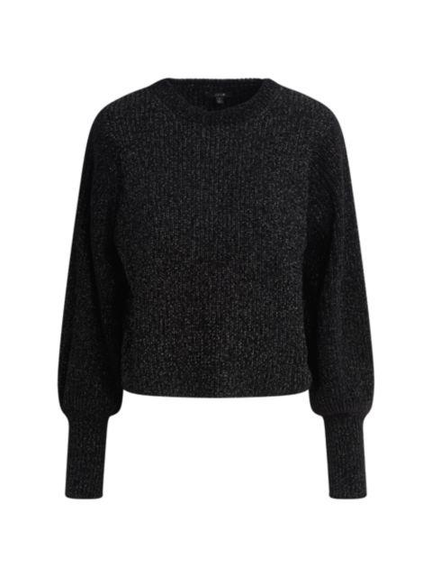 Joe's Jeans Edith Boyfriend Crewneck Puff-Sleeve Sweater | SaksFifthAvenue