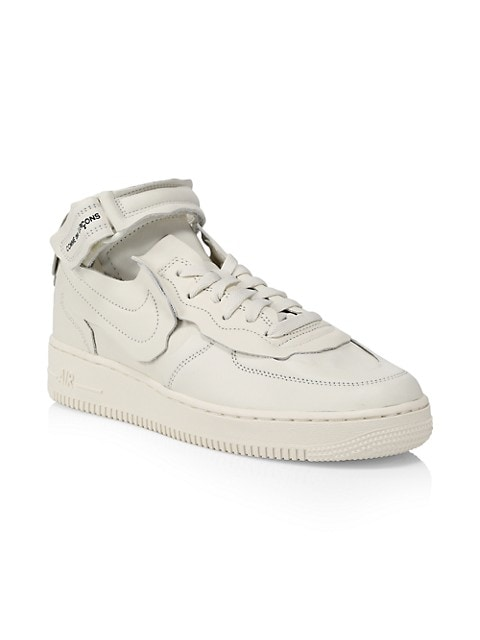 Comme des Garcons x Nike Air Force 1 Leather Sneakers